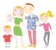 En lycklig familj royaltyfria bilder