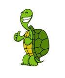 En lycklig sköldpadda royaltyfri illustrationer