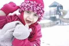 En lycklig våg på lekplatsen Fotografering för Bildbyråer