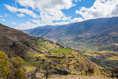En Mérida de montagnes andes venezuela Photo stock