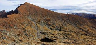 En mörk glaciärsjö som sett ner i valleten Royaltyfri Foto