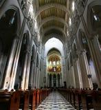 En Madrid Catedral de la Almudena Stockbilder
