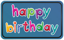 En mall för lycklig födelsedag Arkivbilder