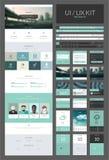En mall för sidawebsitedesign Arkivbild