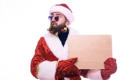 En man i en Santa Claus dräkt arkivfoto