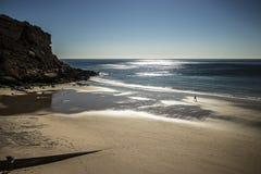 En man på en strand fotografering för bildbyråer