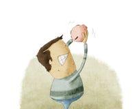 Tömma ut piggybanken Stock Illustrationer