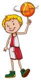 En manlig basketspelare Royaltyfri Foto