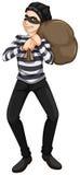 En manlig rånare vektor illustrationer