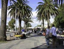 En marknadsdag i Alghero, Sardinia Fotografering för Bildbyråer