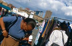 En marknadsföra i Johannesburg. Arkivbilder