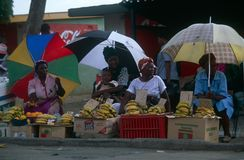 En marknadsföraplats i Johannesburg, Sydafrika Royaltyfria Bilder