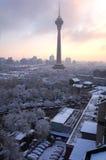 La neige de Pékin Photographie stock libre de droits