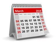 En marzo de 2018 - calendario Fotos de archivo