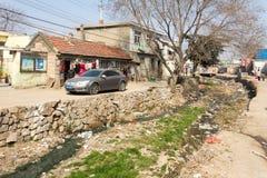 En marzo de 2014 - Shandongtou, Qingdao, China Imagen de archivo