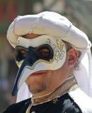 En maskerad man på den Arizona renässansfestivalen Royaltyfria Bilder