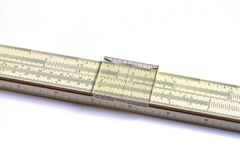 En matematisk glidbanaregel Arkivbild