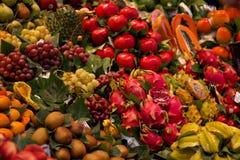 En matmarknad i Barcelona Royaltyfri Bild