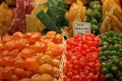 En matmarknad i Barcelona Arkivbilder