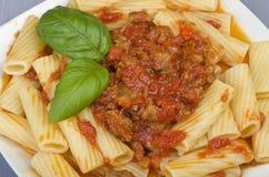 En maträtt av Maccheroni Fotografering för Bildbyråer