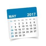 En mayo de 2017 calendario Fotos de archivo
