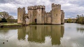 En medeltida slott i England arkivfoto