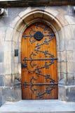 En medeltida temple& x27; s-dörr Royaltyfria Foton