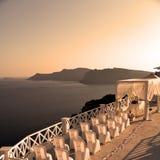en mer d'anniversaire de l'Europe d'île de la Grèce de santorini Photo stock