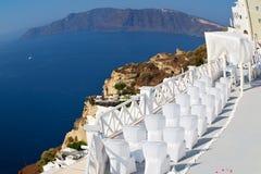 en mer d'anniversaire de l'Europe d'île de la Grèce de santorini Photo libre de droits