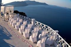 en mer d'anniversaire de l'Europe d'île de la Grèce de santorini et de m Image libre de droits