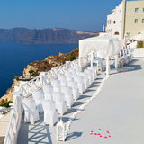 en mer d'anniversaire de l'Europe d'île de la Grèce de santorini et de mA Photographie stock libre de droits