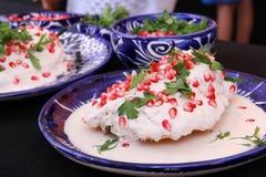 En mexicano Nogada do Chile da culinária imagem de stock royalty free