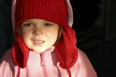 En mi casquillo del invierno imagen de archivo libre de regalías