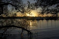 En mi paseo en puesta del sol en Estocolmo Foto de archivo