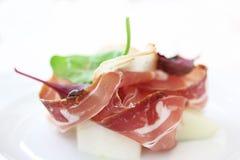 En michelinstjärnamat med bacon Royaltyfri Foto
