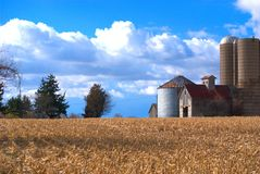 En Midwest USA Farmscape arkivfoto