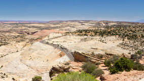 En Miljon-dollar väg i Utah USA Arkivbilder
