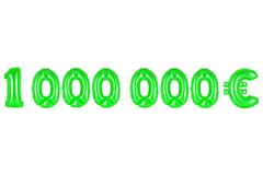 En miljon euro, grön färg Arkivfoto