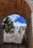 En minnesmärke till offren av jordskalvet Huascaran, Peru Royaltyfria Foton