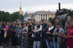 En minut av tystnad för offren av Royaltyfri Fotografi