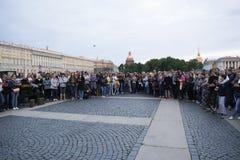 En minut av tystnad för offren av Fotografering för Bildbyråer