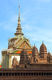 En modell Of Angkor Wat At The Grand Palace i Bangkok, Thailand Arkivfoto