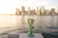 En modell av tillståndet av frihet Royaltyfri Fotografi