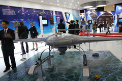 En modell av UAV för korean KUS-9 Royaltyfri Bild