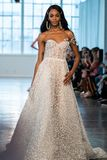 A model walks the runway  during the Berta Bridal Spring 2020 fashion collection