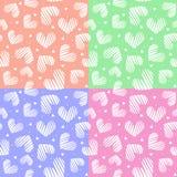5 en 1 modelo inconsútil del corazón Concepto del día de tarjetas del día de San Valentín Fondo del amor Fotos de archivo libres de regalías