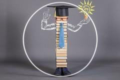 En modern bildad intelligent Vitruvian man, utöver räckvidden av royaltyfri bild