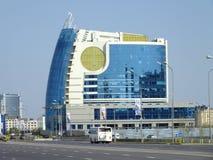 En modern byggnad i Astana/Kasakhstan Arkivfoto