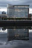 En modern byggnad i Glasgow Arkivbilder