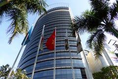 En modern byggnad i Ho Chi Minh City Vietnam Arkivbild